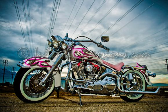 Pink Harley Davidson: Pink Harley Davidson Bike!! This Is A Total Badass Bike
