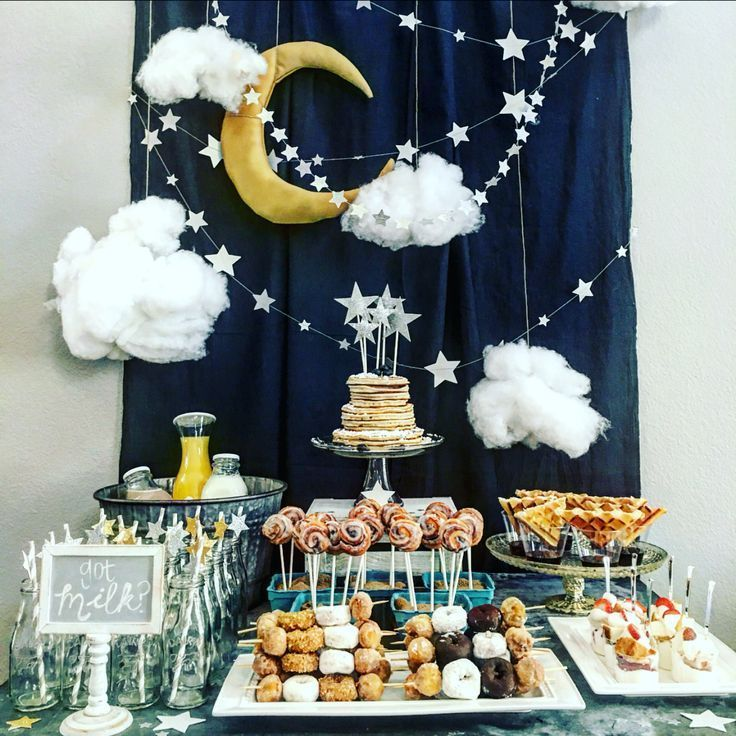 Twinkle Twinkle Little Star Baby Shower. Baby Shower Brunch. Baby Shower Pajama Party.