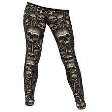 Catacomb, gothic metal fantasy schedels all over print legging