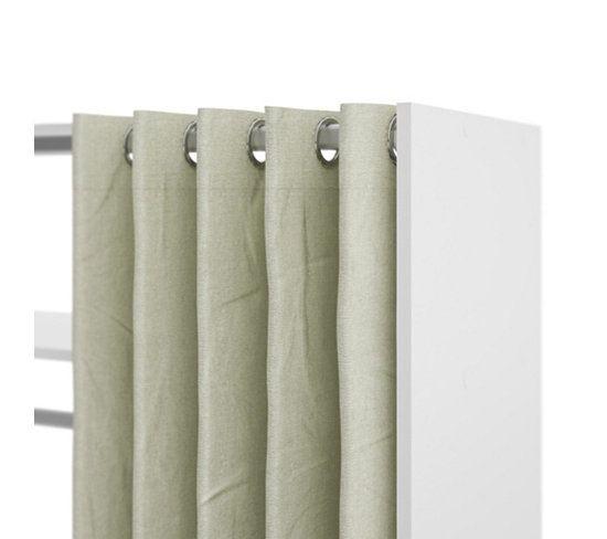 penderie avec rideau kit dressing comprenant un caisson de rangement avec rayonnages et une. Black Bedroom Furniture Sets. Home Design Ideas
