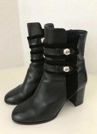 Kaufe meinen Artikel bei #Kleiderkreisel http://www.kleiderkreisel.de/damenschuhe/stiefelette/158648006-isabel-marant-stiefeletten-36-schwarz-wild-leder-stiefel-boots-black-leather-top