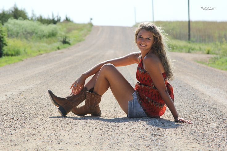 Since Taryn gave me crap, haha. But a senior picture idea for girls on country dirt roads.
