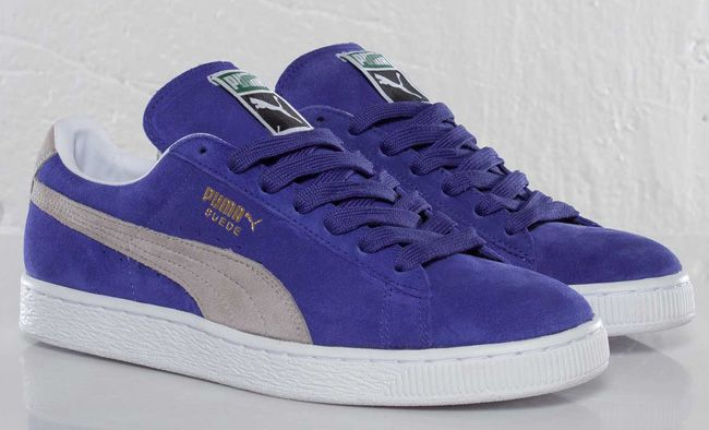Puma Suede Classic ECO | Purple & Grey. looks blue I think