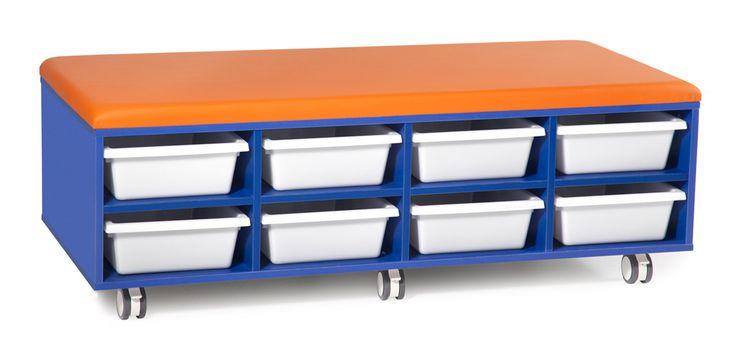 Half Cookie Mobile Tote Trolley - BFX Furniture