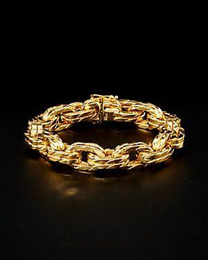 14K Italian Gold Chain Link Bracelet