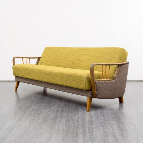 1950s sofa with folding mechanism completely restored karlsruhe vintage beauties. Black Bedroom Furniture Sets. Home Design Ideas