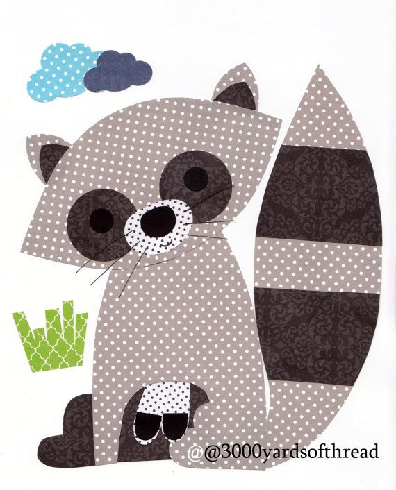 1042 Raccoon Nursery Artwork Print  Baby Room Kids Room Decoration Little Boy Girl Woodland Animals Outdoors Woods Wood Gifts Under 20
