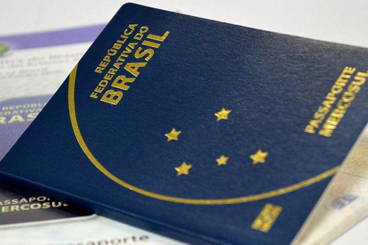 Passaporte brasileiro com a identificação do Mercosul