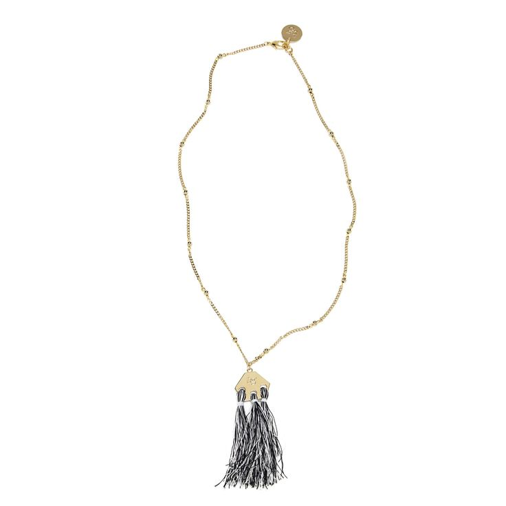 New Hippie Chic – Blugirl Spring Summer 2017 • Long necklace with tassels.