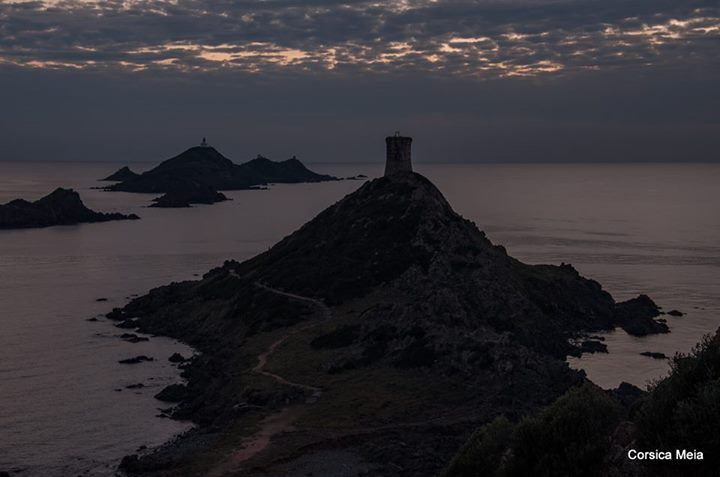 les iles sanguinaires by night.