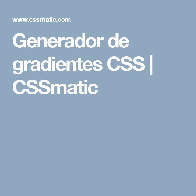Generador de gradientes CSS | CSSmatic