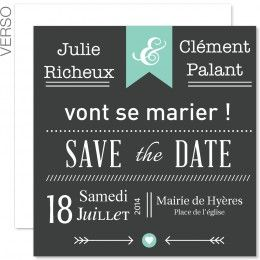Sur Carteland, des save-the-date originaux à personnaliser en ligne pour convier vos amis au plus beau jour de votre vie.
