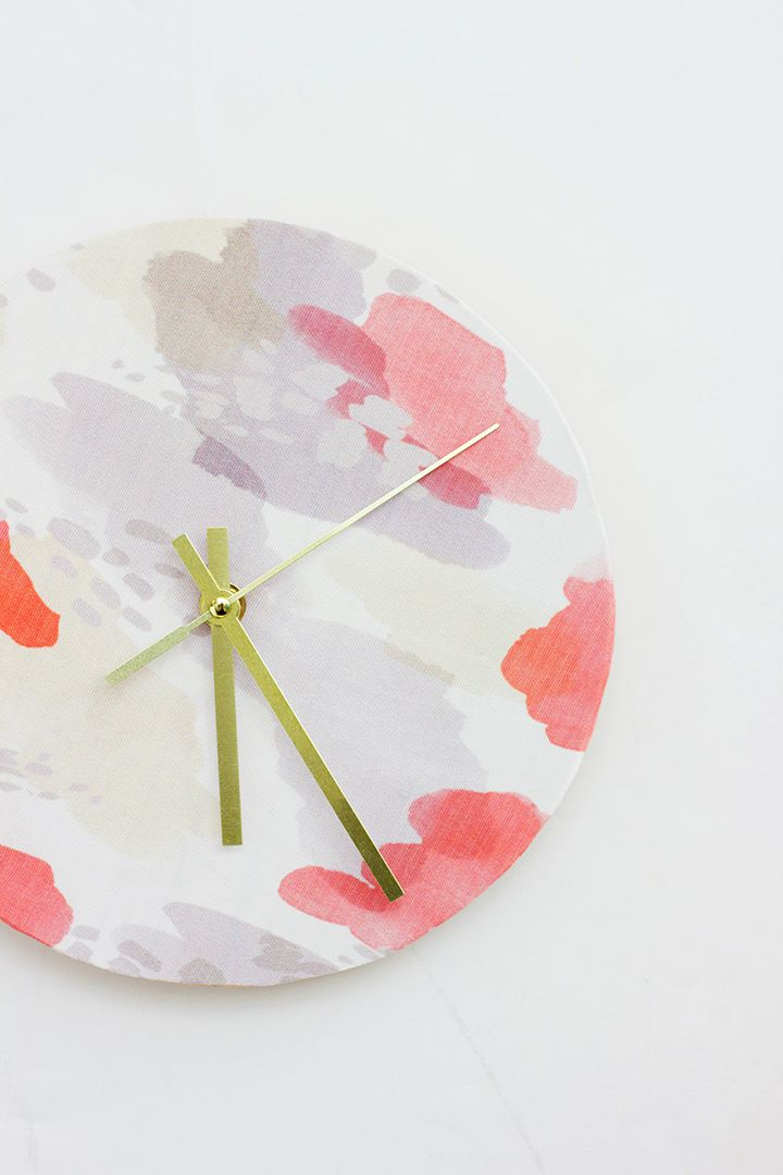 DIY Fabric Covered Clock