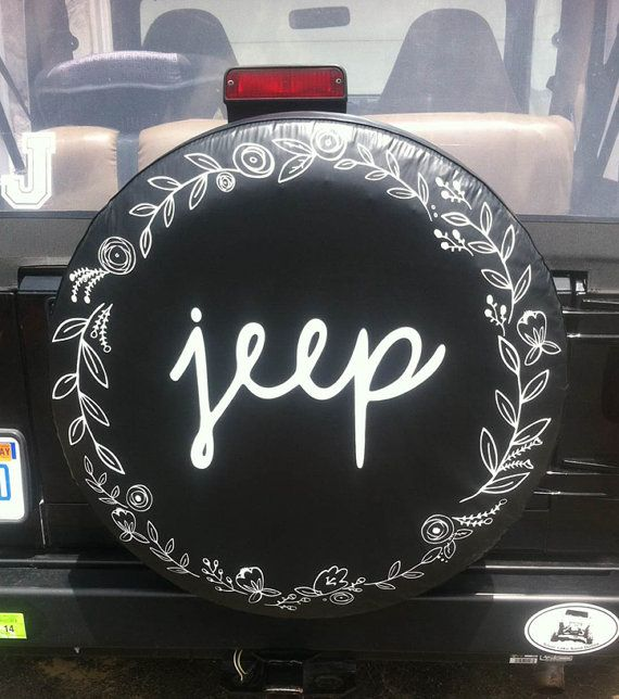 Laurels Jeep Tire Cover by 6DimensionalCanvas on Etsy
