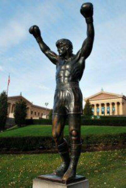 Rocky Balboa statue in Philadelphia, PA.