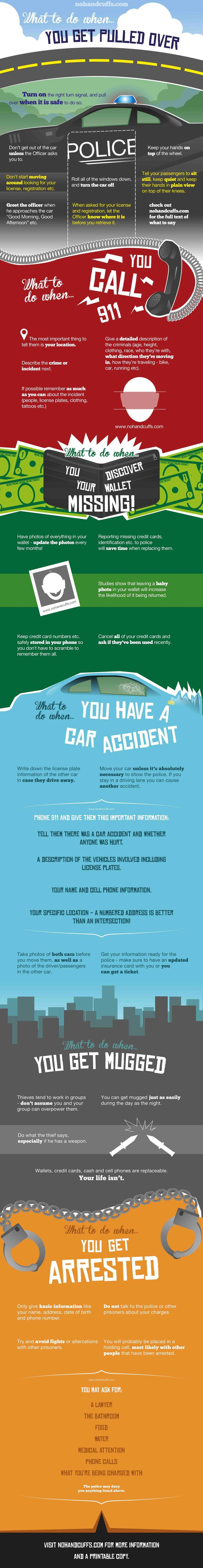 Emergency Guidelines by nohandcuffs via infographicsmania: S+++t happens. If you fall in tough luck either due to boldness or to random emergency these tips can help you get off unharmed. #Infographic #Emergency