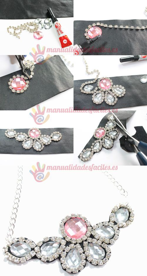 Nice idea for making collar necklace.