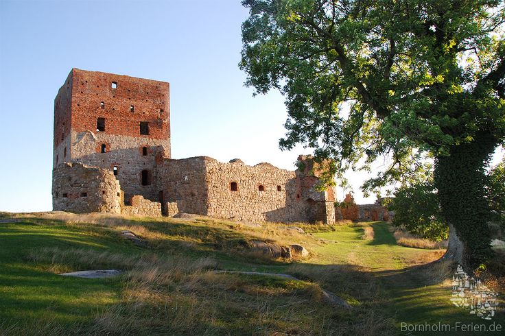 Afternoon on castle Hammershus, Bornholm - Denmark #hammershus #castle #ruin #ruine #burg #bornholm #denmark #danmark #dänemark