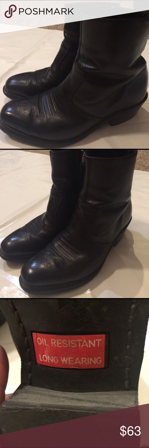 Men's designer ankle boots Excellent condition oil resistant long wear extremely well-made. double-H  Shoes Boots