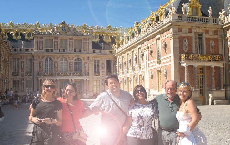 amigos em Versailles...
