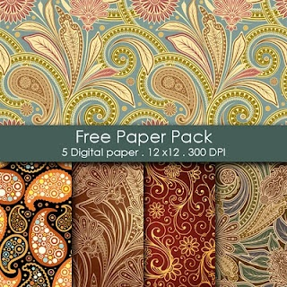 Free Paisley Printable Paper Pack: Free Paper, Digital Paper, Printable Paper, Scrapbook Paper, Free Digital, Free Printable, Printable Packs, Printable Patterns, Paper Packs