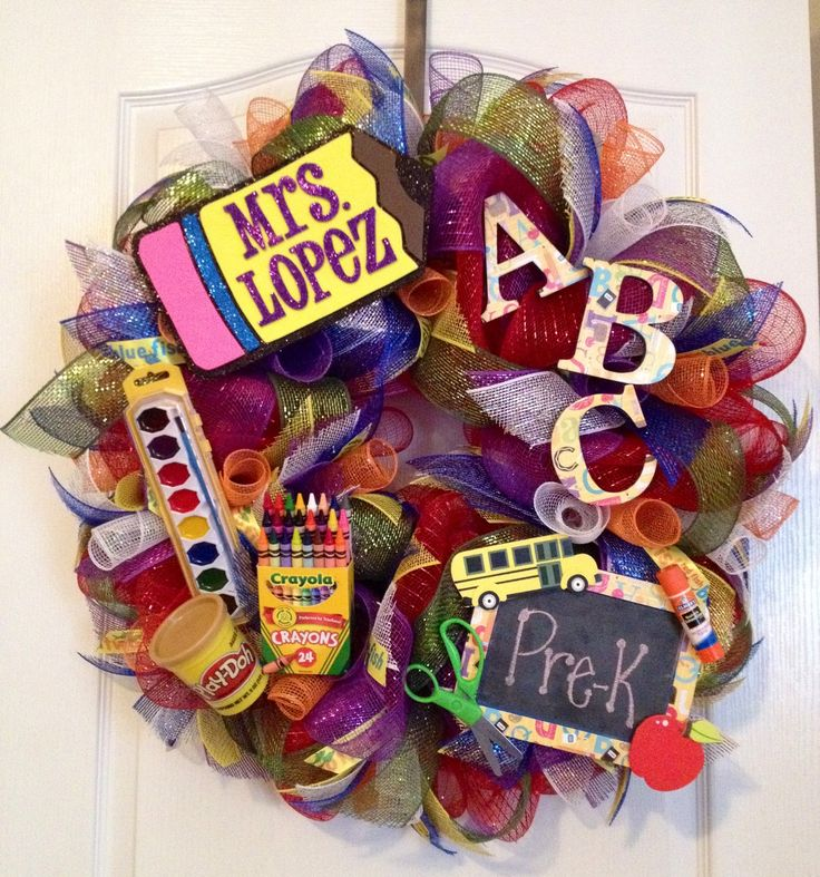 Classroom Wreath Ideas ~ Best ideas about school wreaths on pinterest teacher