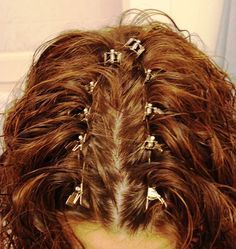 Clip your hair at your roots for more volume in those places. If you tend to get flat roots, but big hair everywhere else, use duckbill clip...