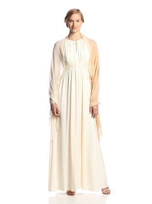 63% OFF Saachi Women's Jeweled Wool Wrap, Sand/Ivory