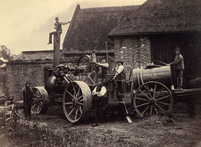 Kitson and Hewitson / J.Fowler steam Plough, (K&H works no. 923, built 15/10/1861, 12hp) Acle, Model Farm. [images/photographs]
