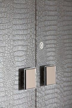 "luxurious crocodile leather feel for wardrobe veneer."" ""crocodile cabinets"""