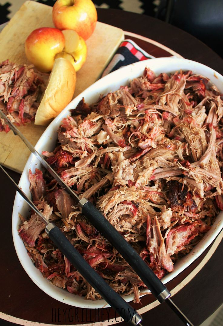Cider Brined Pulled Pork to be specific. It is brined in an amazing salty sweet apple cider brine then smoked and slow roasted to tender fall…