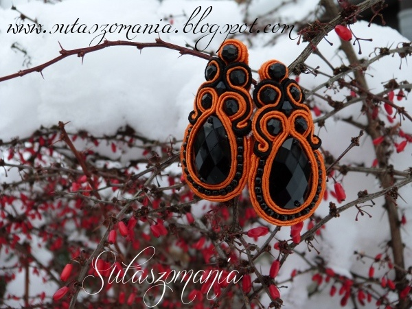 soutache, earrings, sutasz, kolczyki