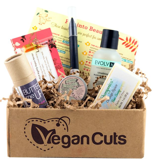 Vegan Cuts Beauty Box - Each month you will receive a delivery of 4-7 new products to try, ranging from unique cosmetics to luxurious skincare.