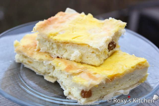 Cheese Filled Phyllo Pie - Placinta cu Branza