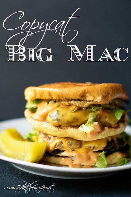 Copycat Big Mac Burger