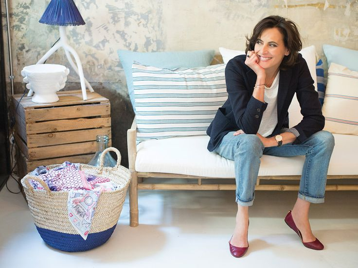 Ines de la Fressange in new boutique on rue de Grenelle, Paris - stop by & enjoy her signature je ne sois quois style.