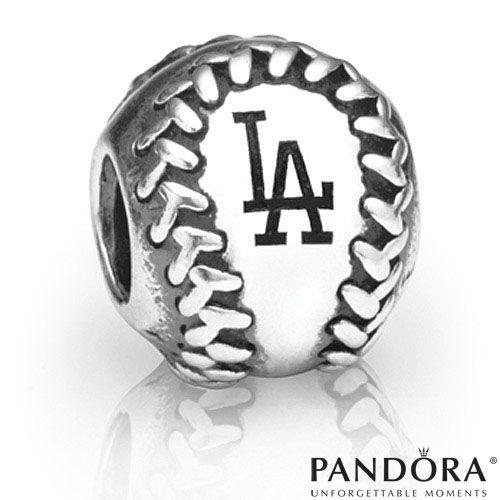 Pandora Jewelry Los Angeles: Los Angeles Dodgers MLB Baseball Charm By PANDORA® Jewelry