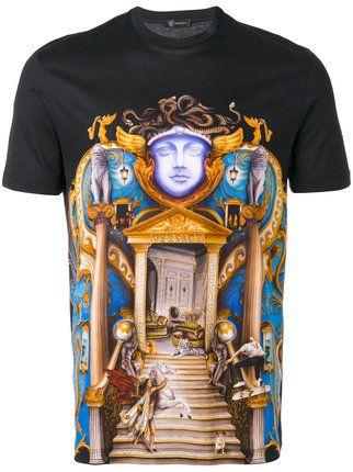 9601b40d Versace Triptych print T-shirt | versace t shirt | Shirts, Versace ...