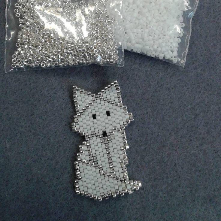 # fox #brick stich #miyuki