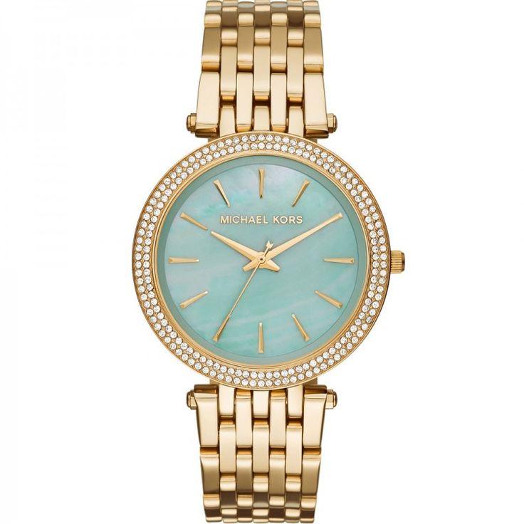 Michael Kors Darci Gold-Tone Stainless Steel Bracelet Watch 39mm MK3498