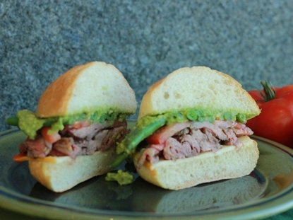 the Chilean Chacarero (Steak Sandwich)