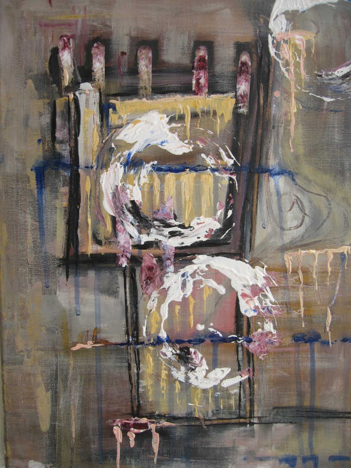 Light cages 1    mixed media