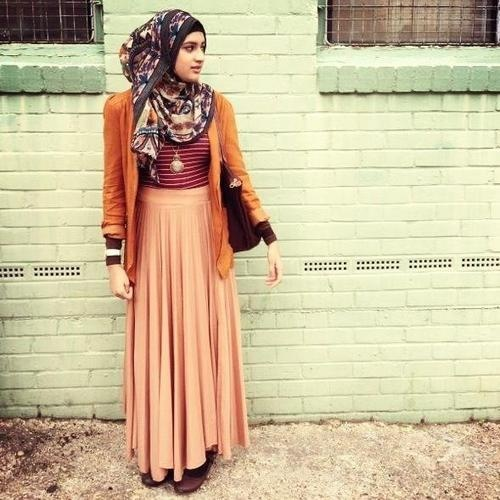 Love This Orange Quirky Look Hijab Pinterest