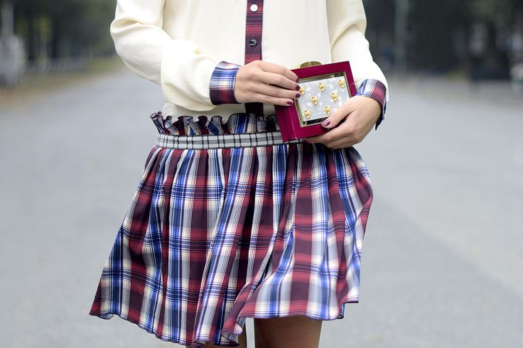 Vestito #tartan: tendenza autunno inverno 2015! || Tartan dress: #trend of fall winter 2015! #ootd #style #streetstyle #outfit #lauracomolli #pursesandi