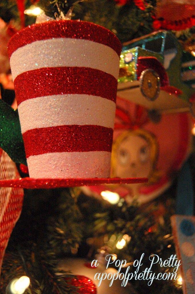 A Pop of Pretty: Canadian Decorating Blog - http://apopofpretty.com/dr-seuss-christmas-tree-2012/