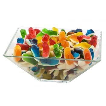 Jeleurile ghetute sunt foarte bine aranjate in bomboniera la diversele petreceri funny. Si in plus (spre surprinderea invitatiilor) aceste ghetute au un gust delicios.