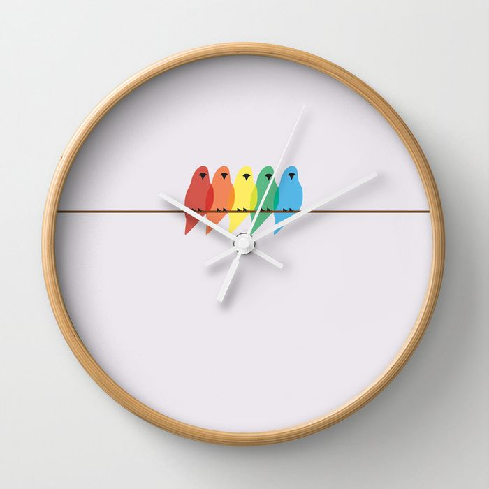 58 best wall clocks images on pinterest wall clocks decor room making time for friends is important hang up this birds wall clock by ccuart Image collections