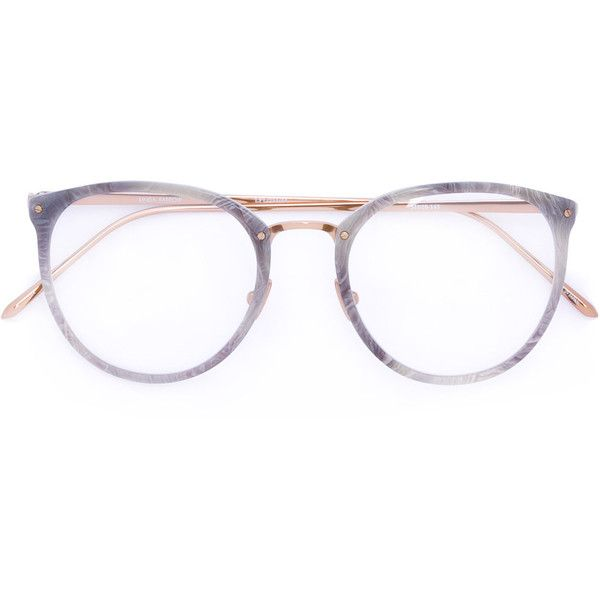 Linda Farrow oval frames ($785) ❤ liked on Polyvore featuring accessories, eyewear, eyeglasses, sunglasses, grey, oval glasses, metallic glasses, grey glasses, linda farrow glasses and linda farrow eyewear