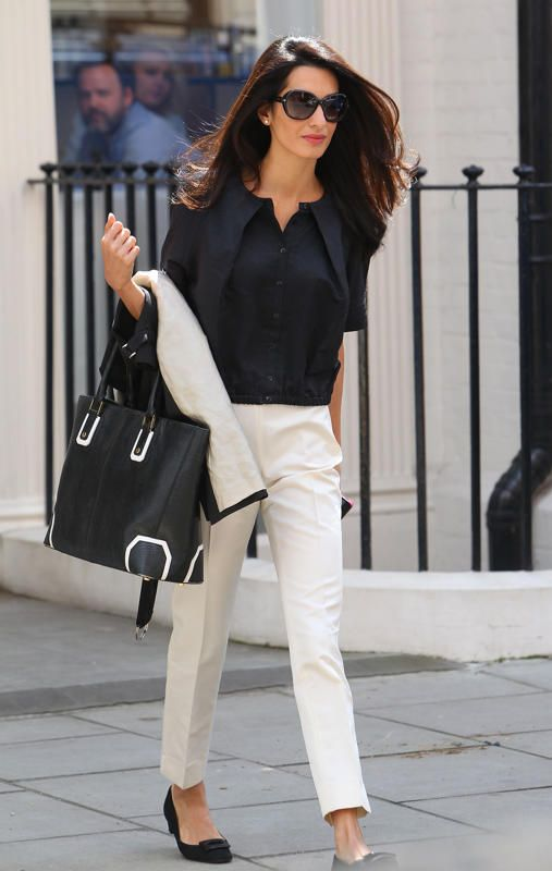 So stylish, really like her choice of classic-styled outfits(except for the last 3 tendy outfits in this fashion post line-up): Amal Alamuddin