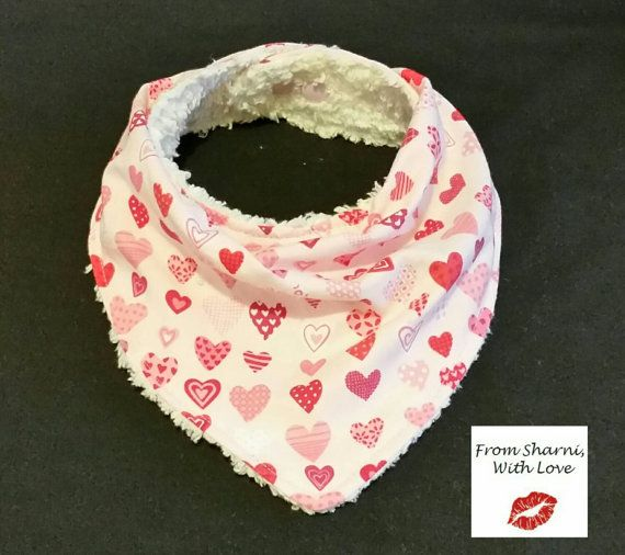 Check out this item in my Etsy shop https://www.etsy.com/au/listing/265038452/bandana-bib-dribble-bib-pink-heart-bib
